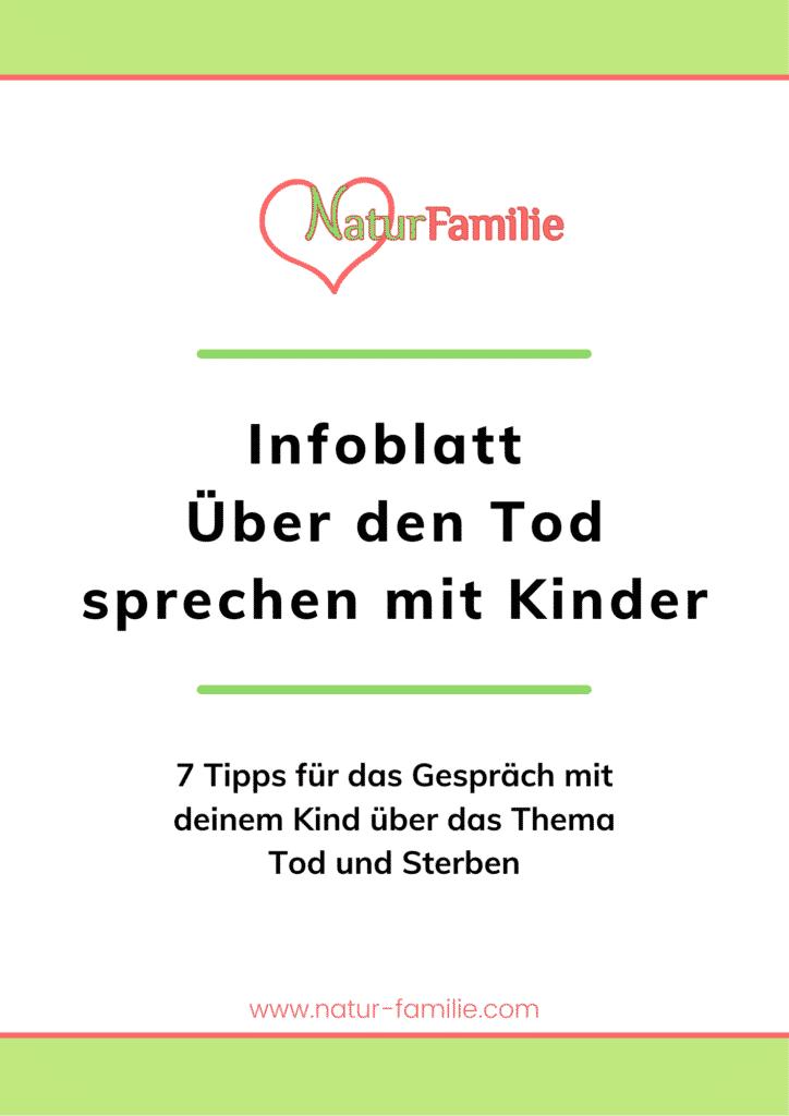 Infoblatt Über den Tod sprechen mit Kinder